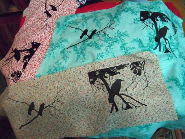 multiple crow prints