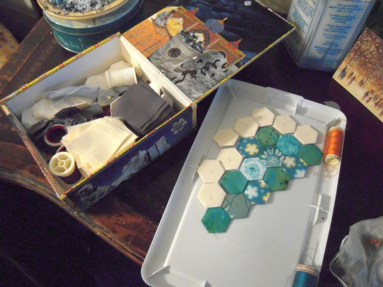 hexies being made
