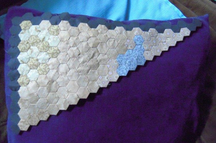 dragon hexie quilt progress