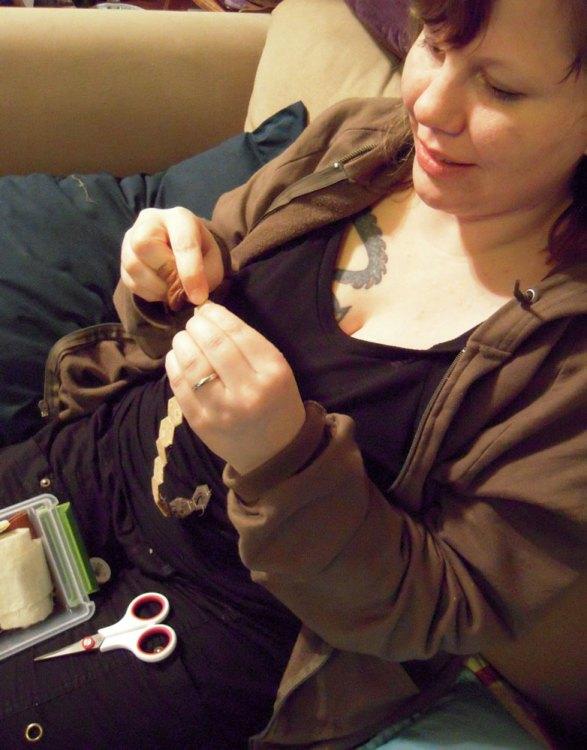 Gail sewing hexies