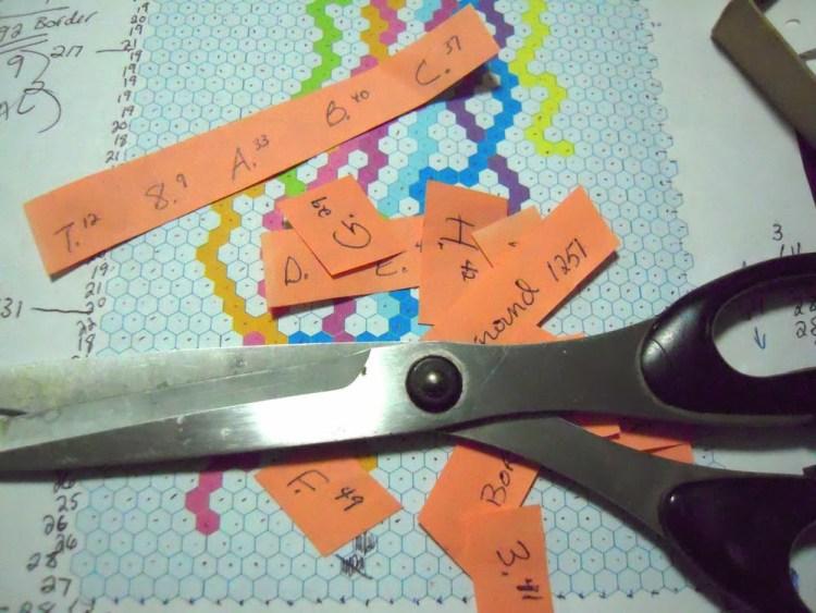 labeling hexies