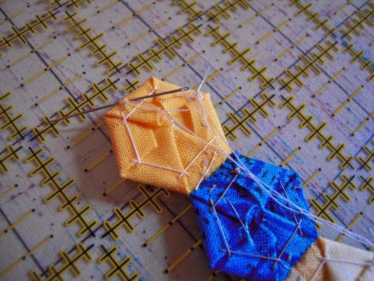 hexie row stitching