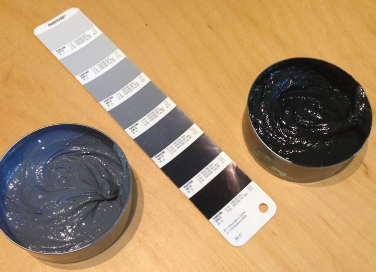 pantone ink mixing grey