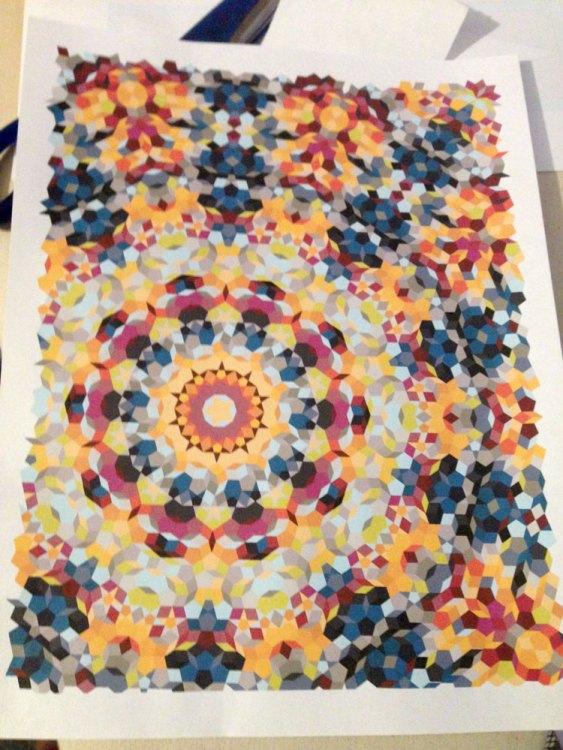 Kaleidoscope quilt layout