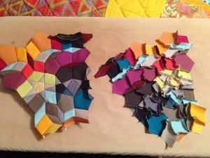 piecing the kaleidoscope Quilt