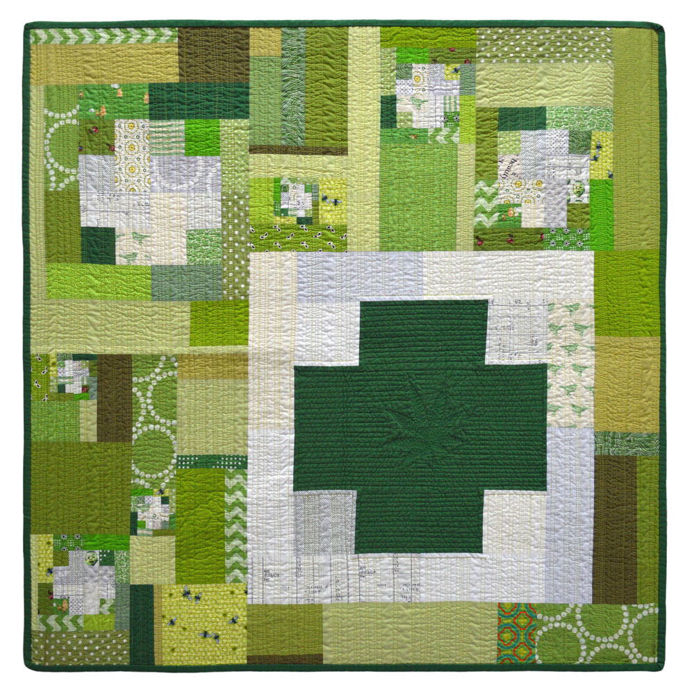 Green Cross Series Quilt #1
