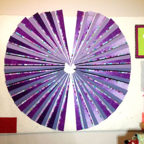 Third Eye Quilt idea on the design wall