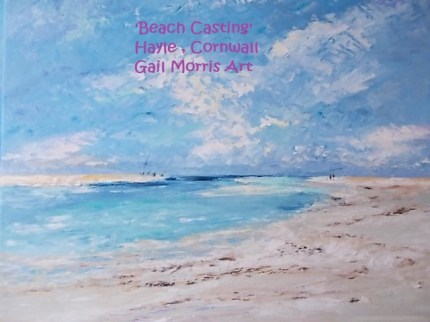 'Beach Casting' at The Bluff, Hayle - Mounted Prints £30 P&P inc - Larger Framed Prints on collection from £65 - £125 Please ask for sizes - Greeting Cards £2