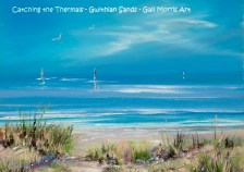 'Catching the Thermals' Gwithian Sands - Mounted Prints £30 inc P&P - Framed Prints from £30 on collection only