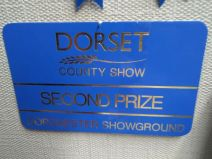 The Blue Plaque was 2nd Prize best stand Dorset County Show 2013