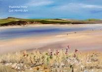 Padstow Pinks Greeting Card A5 size