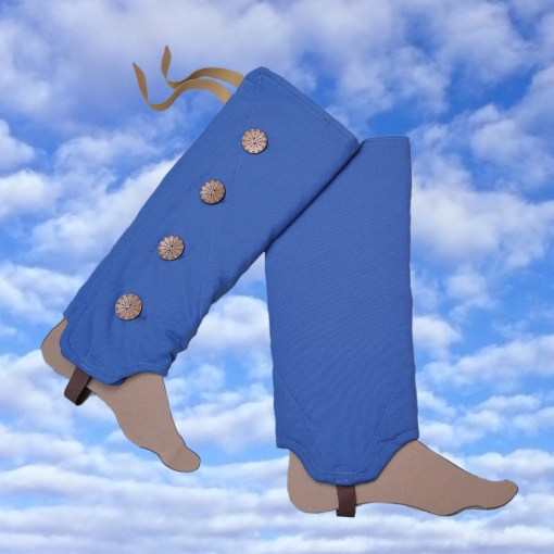 SallyGators® Leg Warmers - Blue-Canvas - Gardening and Hiking by Gail Russell Art & Apparel, Taos, New Mexico