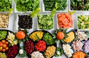 A colorful buffet of raw vegetables to help fight inflammation.