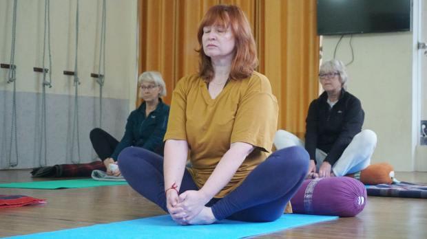 yoga pose for a stress reducer
