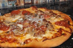 Homemade Sausage Pizza