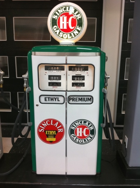 Figure 3. Double gasoline pump from Torrence Collection of Auto Memorabilia.