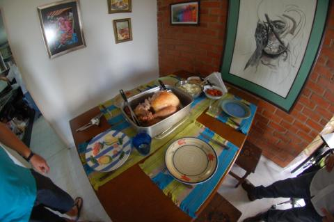 Thanksgiving in Colombian fisheye. Thanksgiving, 2013. | Kenneth Lowe