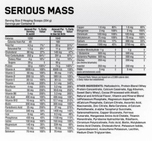 optimum nutrition serious mass review