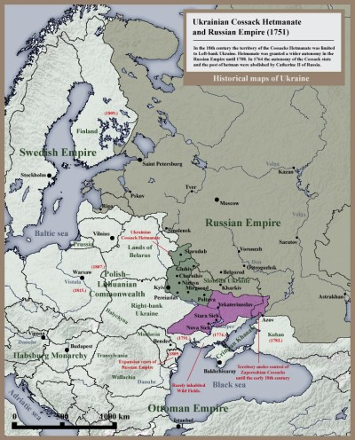 007_Ukrainian_Cossack_Hetmanate_and_Russian_Empire_1751