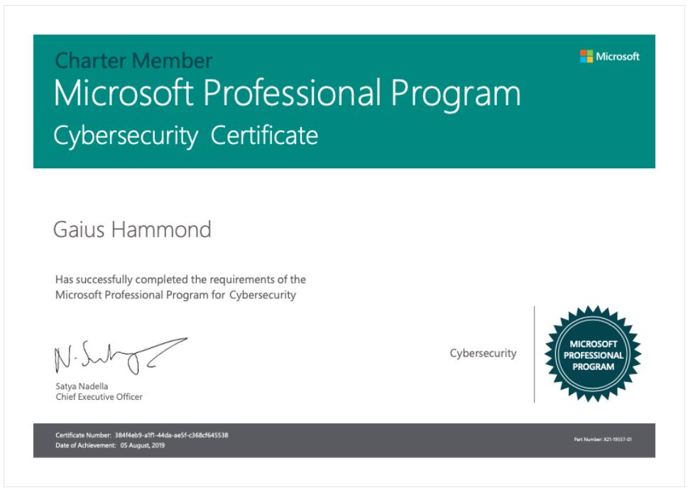 Microsoft Professional Program Cybersecurity So I Decided