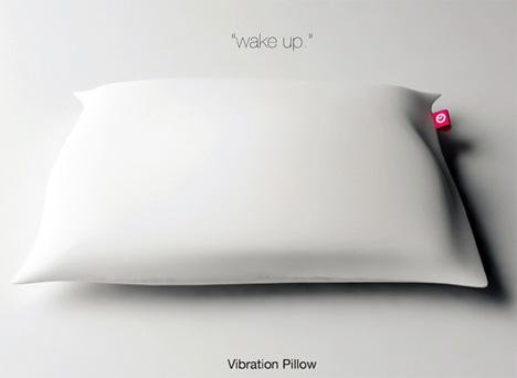 shake and wake pillow alarm vibrates