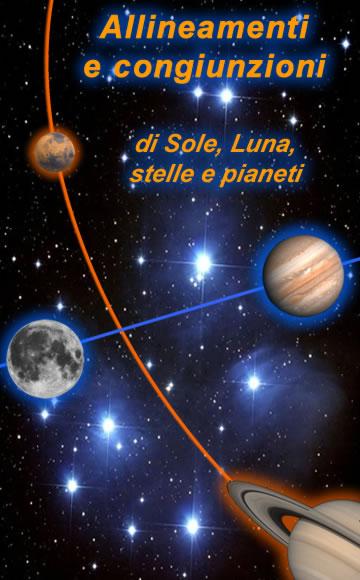Allineamenti e congiunzioni di Luna, pianeti e stelle