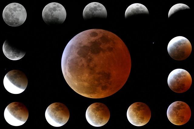 Sequenza eclisse lunare