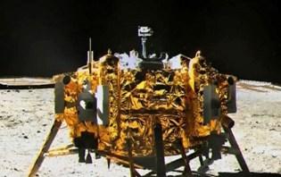 Il lander Yutu scatta una foto del lander della missione Chang'e. Sono atterrati sulla Luna il 14 dicembre scorso.