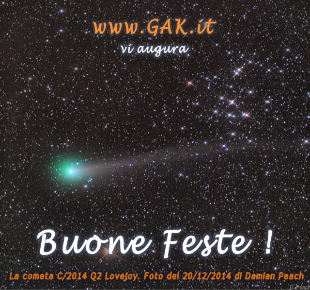 La cometa 2014 Q2 Lovejoy. Foto del 20/12/2014 Damian Peach
