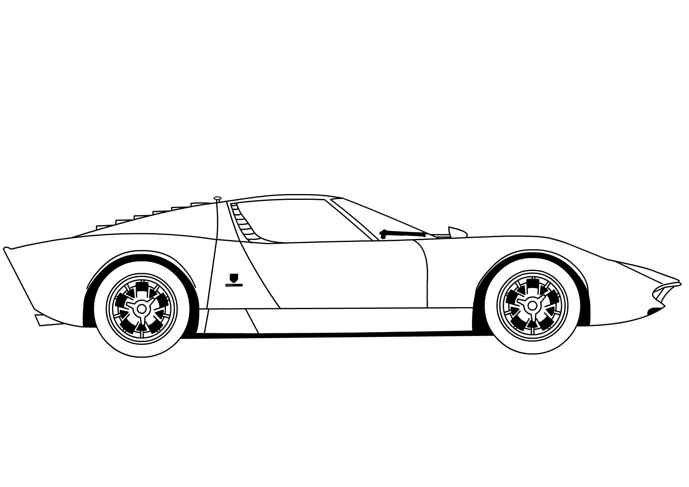Kleurplaat Lamborghini Sesto Elemento • Kidkleurplaat.nl