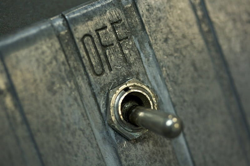 Photo:IBM 26 on/off switch By:Marcin Wichary