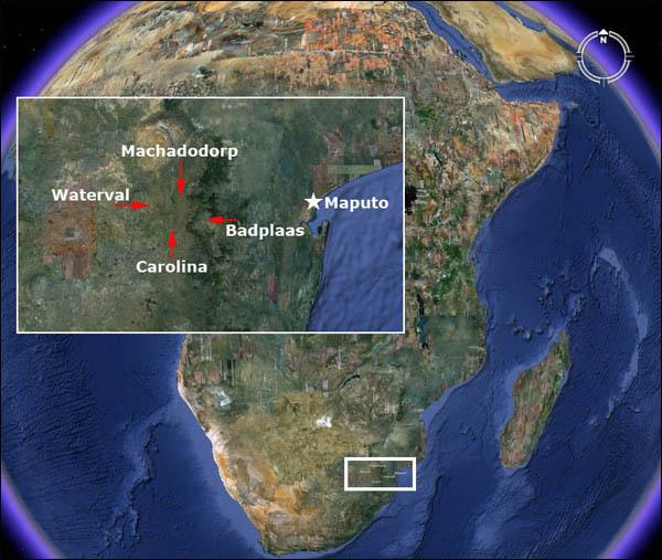 Google Earth beeld van de locatie van de metropolis