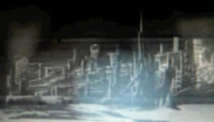 Uma Nave Espacial Alienígena na Lua