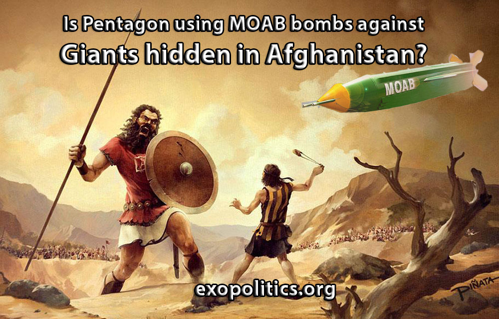 Dr. Michael Salla – Is Pentagon using MOAB bombs against Giants hidden in Afghanistan?