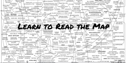 """Q Anon: """"Learn to Read the Map"""" A Cartography of the Globally Organized Corruption Networks: Treasure Trove of Maps, Diagrams, Org Charts, and Family Tree"""