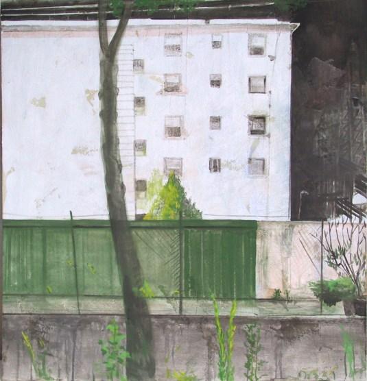 """ palazzo "" -2006, cm 135x125, mixed media on wood"