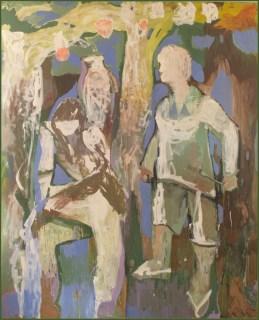 """"""" la-temperanza """" -2008, cm 185x215, mixed on wood, private collection"""