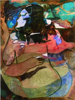 """ le-aperture-di-adam "" -2006, cm. 46x61, mixed media on wood, private collection"