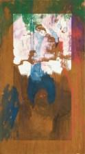 """ romeo-e-giulietta "" -2007, cm 90x200, mixed on wood, private collection"