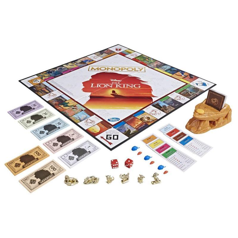 Monopoly Game Disney The Lion King Edition contents
