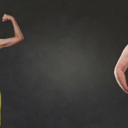 dwóch mężczyzn - chudy i gruby ilustrują weightism