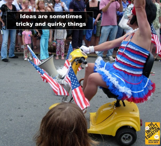 Ideas are sometimes tricky and quirky things | #impacteq