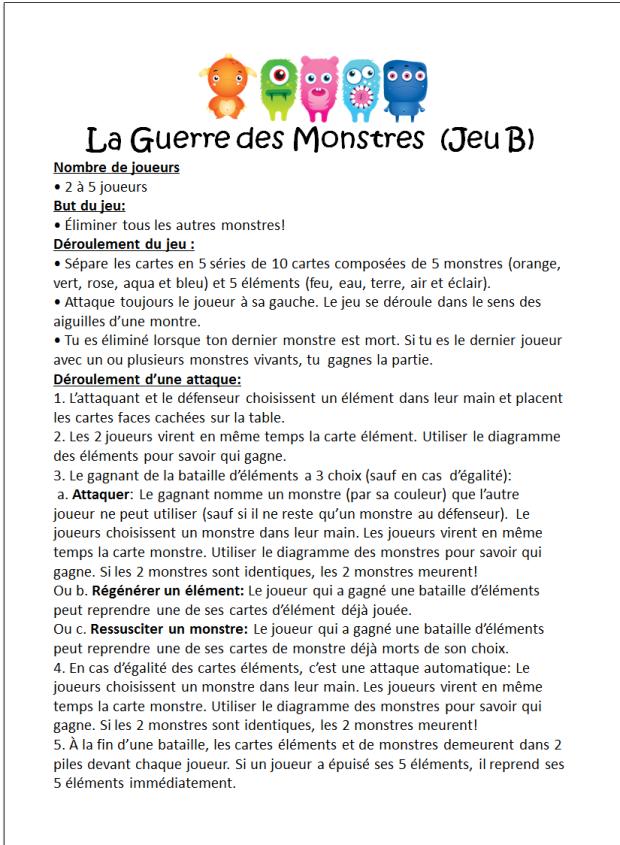 Multi-Monstres 1.1 Rules B