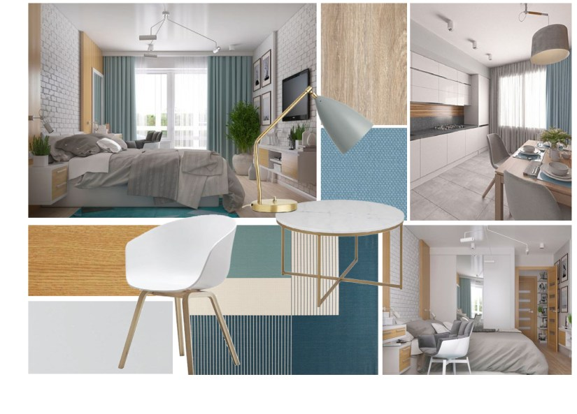 Clean Scandinavian-contemporary mood board