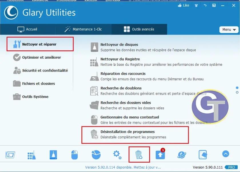 Supprimer un logiciel sous Windows avec Glary Utilities