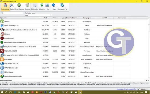 Supprimer une Application Windows 10 avec Revo Uninstaller