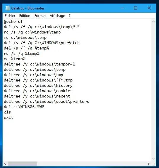 Effacer les fichiers inutiles Windows