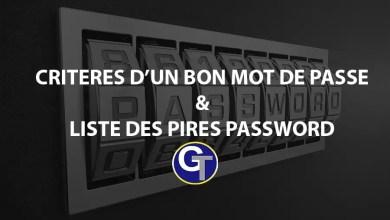 Photo of Quelles sont les critères d'un bon mot de passe ?