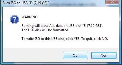 Formatez la clé USB
