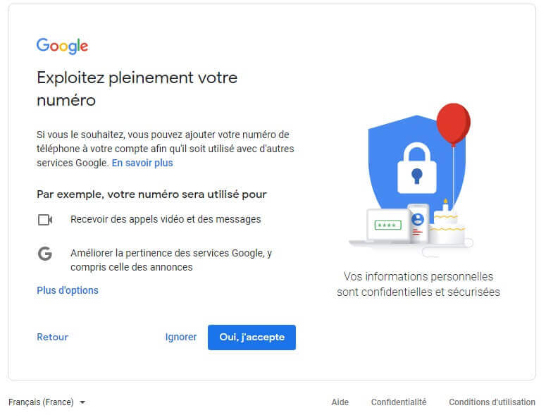 Créer un compte gmail gratuit